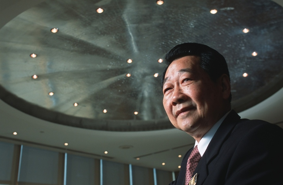 Dhanin Chearvanont, Chairman & CEO of the Charoen Pokphand Group (Thailand), poses in his Telecom Tower office building in Bangkok.