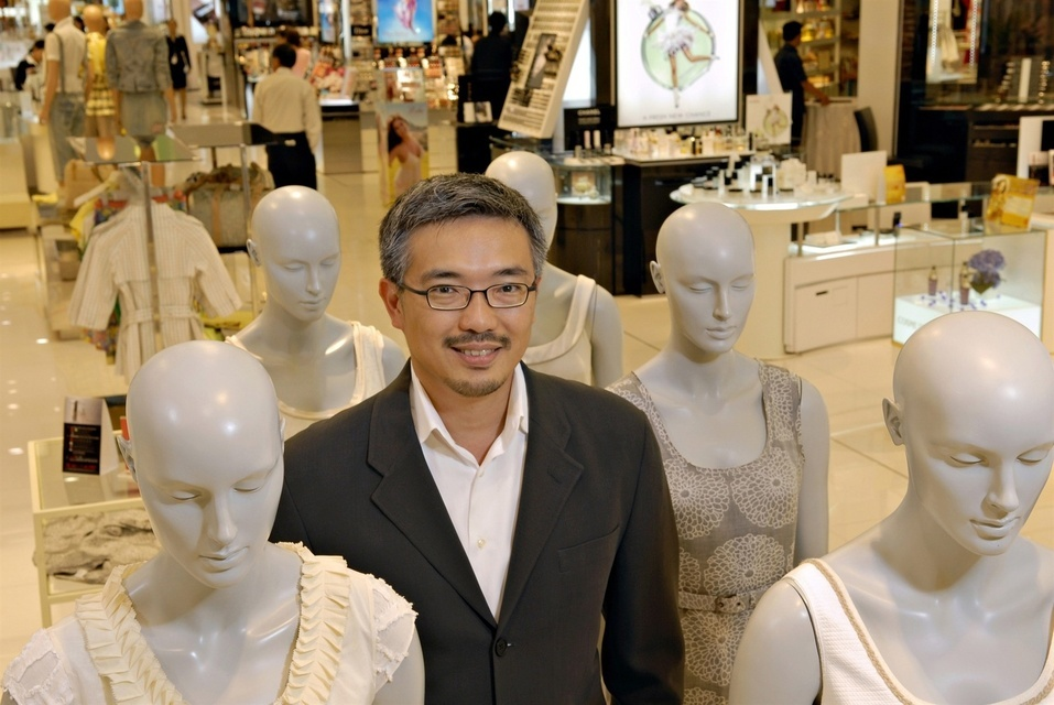 Tos Chirathivat, CEO of Central Retail Corporation Ltd in the Central Department store in Chidlom, one of the company's many large department store retail outlets.